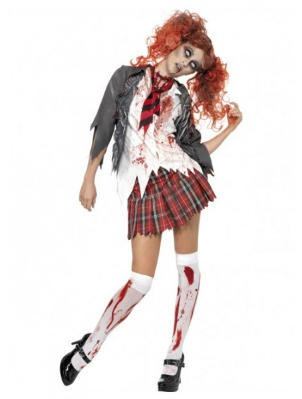 Halloween School Girl Zombie Costume