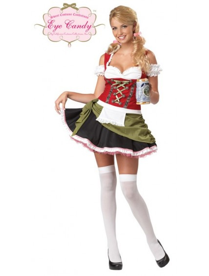 Deluxe Bavarian Barmaid Womens Costume